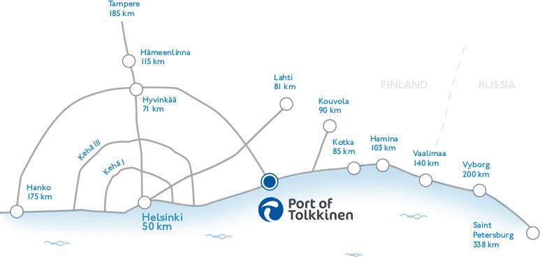 Location Port of Tolkkinen